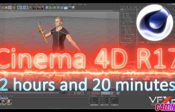 C4D教程Cinema 4D R17初学者到高级建模绑定动画粒子照明材质纹理