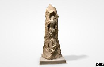 C4D模型 雕塑Sepulchral纪念碑的艺术家的母亲 Signe Tegner