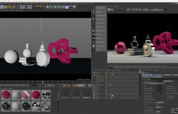 Arnold for C4D 渲染器背景阴影合成视频教程
