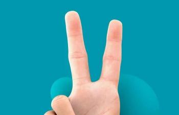 Octane渲染器摆着胜利手势的手掌器官C4D模型