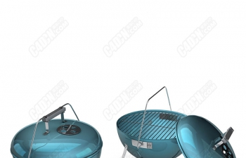 C4D模型 户外烧锅锅具 厨具模型 烤炉