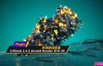 C4D阿诺德渲染器插件 C4DtoA 2.4.3 Arnold Render R18-20