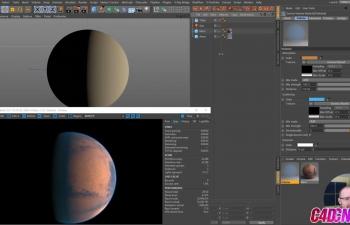 Corona渲染器渲染火星行星环境材质渲染C4D教程