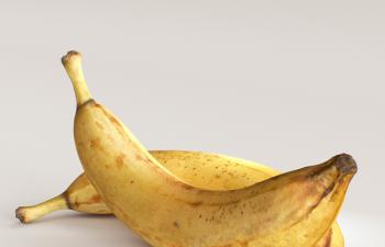 C4D模型 精品写实香蕉模型