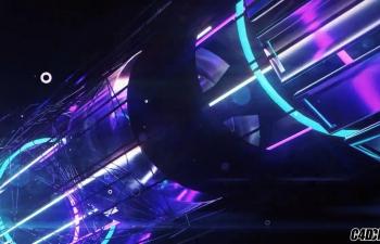 C4D精品工程 No.165 机械飞船璀璨灯光穿梭动画工程