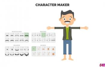 创意卡通角色人物生活动画制作工具包AE模板下载