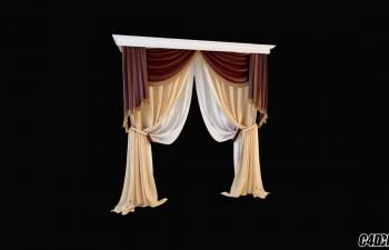 C4D模型 现代装修 窗帘模型42