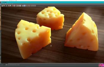 069-C4D- R20案例奶酪建模渲染-02奶酪渲染(max一枝花)