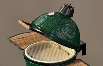 C4D模型 绿色鸡蛋饼烧烤炉模型