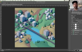 CINEMA 4D教程——制作等距低面模城市景观