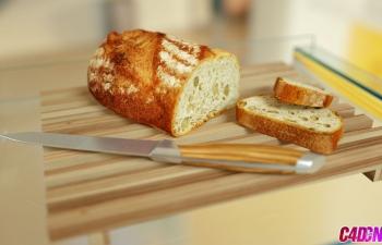 OC渲染——厨房中的面包
