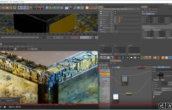 C4D教程 OC渲染器置换教程 Cinema 4D Tutorial - Using Displacement in Octane Render