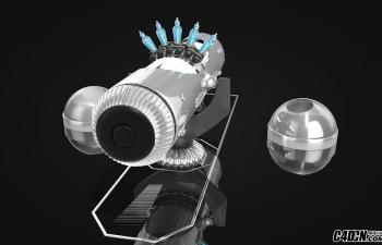 C4D神经中和器机械模型含支架