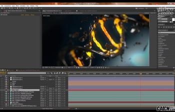 CINEMA 4D+AE  DNA基因分子链制作与动画教程