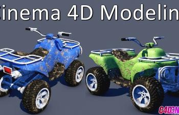 C4D教程 四轮大脚车汽车建模教程