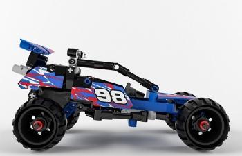 乐高积木赛车大脚车玩具汽车C4D模型 Lego Technic Off-road Racer C4D model