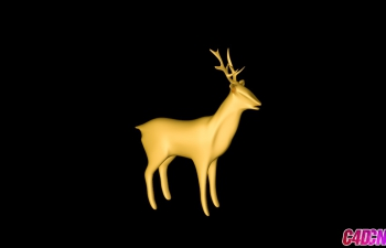 圣诞鹿模型