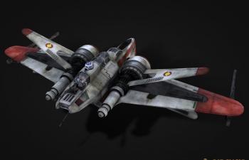 星球大战战机模型Star Wars™ ARC-170 Fighter 3d model