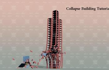 积木建筑碰撞物理模拟动力倒塌C4D教程