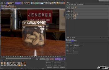CINEMA 4D建模教程-饼干罐(布模拟)教程