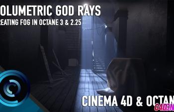 Octane3.0渲染器制作体积光昏暗的走廊灯光C4D教程