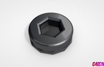 C4D模型 21 螺丝帽 螺栓帽模型 Bolt-Head
