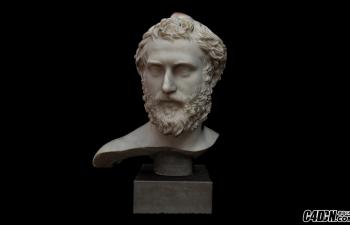 C4D罗马半身像雕塑模型 Bust of a Roman