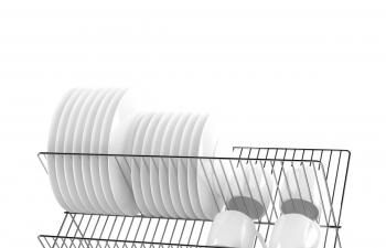C4D模型 碗筷架碟子盘子架组合模型