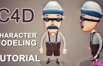 C4D教程:卡通老头的建模及渲染