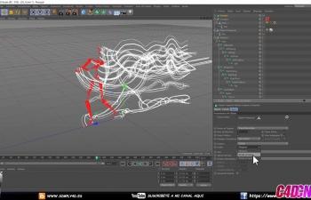 C4D教程 运动剪辑系统制作角色绑定动画拖尾轨迹追踪动画教程 LIBRERIA