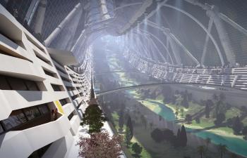 C4D大型教程:太空殖民地的建模及渲染