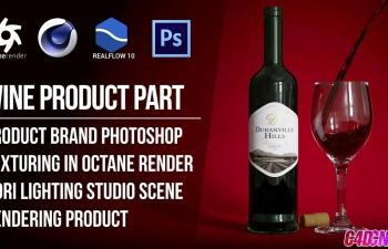 C4D教程:Octane渲染RF流体酒水动画