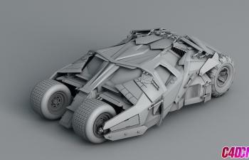 自建的蝙蝠侠战车C4D模型