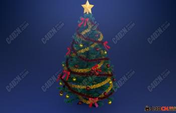精度模型——圣诞树(*C4D格式)