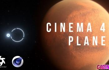 Octane渲染器星球写实火星太空场景材质渲染C4D教程