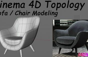 C4D教程 沙发椅子建模教程