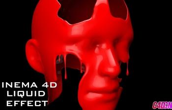 C4D教程 雕刻工具制作在Cinema 4D中创建融化液体效果教程
