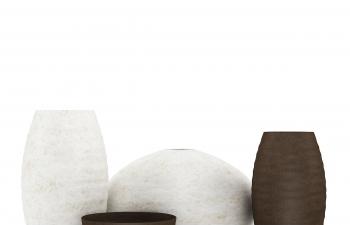C4D模型 陶瓷陶壶器皿模型