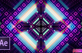 C4D+AE运动图形制作分形变换的图案教程 Фрактальные кубы в After Effects и Cinema 4D