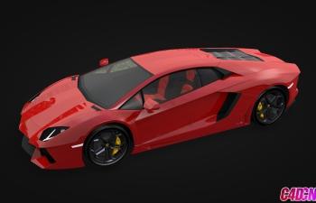 蘭博基尼超級跑車汽車展廳場景C4D模型