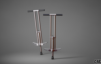 C4D弹簧单高跷模型 pogo model