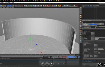 C4D教程-移动表面覆盖物体