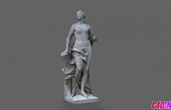 C4D模型 女人雕塑人物模型
