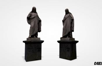 C4D雕像模型 耶稣雕塑