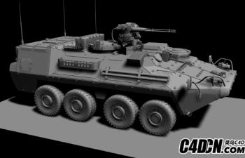 高精度MAX坦克 轮式步兵车 模型,2p