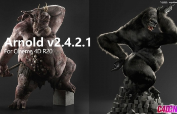C4D插件 阿诺德渲染器v2.4.2.1 Solid Angle Cinema 4D To Arnold v2.4.2.1 For Cinema 4D R20 - AMPED