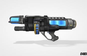 C4D模型 冰冻散弹枪 武器