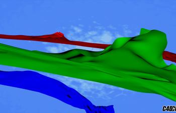 C4D教程 布料绑定动画的制作