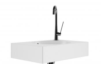 C4D模型 水龙头穿插洗手池时尚设计洗手间用品模型