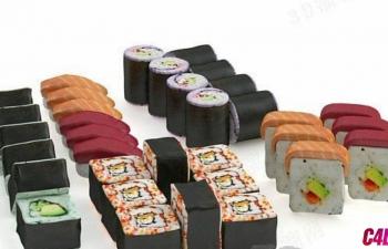 C4D模型 各种寿司